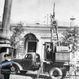 Краснодар. Открытие движения троллейбуса по ул. Мира. Сентябрь 1952 г.