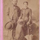 Екатеринодар. Фотоателье Гольденберга. Фото молодой пары.