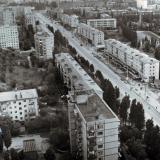 Краснодар. Фестивальный микрорайон. Улицу Атарбекова.  1986 год.