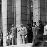 Краснодар. Хрущёв Н.С. на ступенях Крайкома КПСС, 1960 год