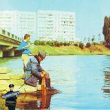Краснодар. Рыбалка на Старой Кубани у моста в парк.