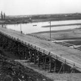 1950-1952. Строительство моста через р. Кубань (Яблоновский мост)