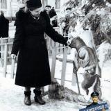 Краснодар. На улице Сталина у новогодней ёлки, 50-е годы