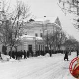 Краснодар. Угол улиц Красной и Клары Цеткин, 1962 год, вид на юг