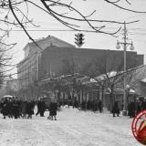 Краснодар. Угол улиц Красной и Карасунской, 1962 год, вид на юг