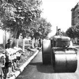 Краснодар. Укладка асфальта на улице Седина, 50 - е годы.