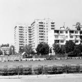 """Краснодар. Вид на улицу Красную от стадиона """"Динамо"""", 1978 год."""