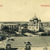 Екатеринодар. Общий вид города, вид на северо-восток, до 1917 года