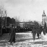 """Екатеринодар. Парад """"Корниловского полка"""", 21 января 1920 года."""