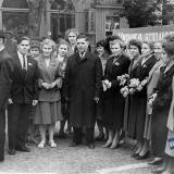 Краснодар. Студенты и преподаватели КСХИ на первомайской демонстрации. Красная улица, конец 1960-х, вид на запад