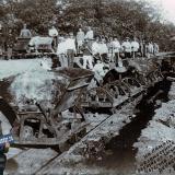 Краснодар. Разработка земли вагонетками.