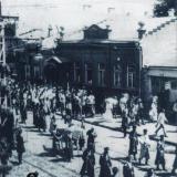 Екатеринодар. Шествие по улице Красной, 1919 год.