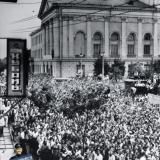 Краснодар. Угол улиц Сталина и Гоголя, август 1955 года