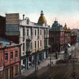 Екатеринодар. Угол улиц Красной и Гоголя, вид на юг с балкона 2-го реального училища