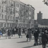 Краснодар. Угол улиц Зиповской и Ростовского шоссе, вид на восток, 1 мая 1953 года