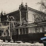 Краснодар. Реконструкция трамвайных путей на улице Пролетарской, май 1934 года