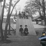 Екатеринодар. Реалисты во дворе Кубанского Александровского реального училища