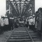 Екатеринодар. Железнодорожный мост через р. Кубань, 1887 год
