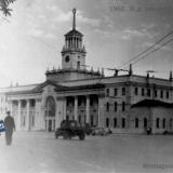 Краснодар. Железнодорожный вокзал, около 1960 года