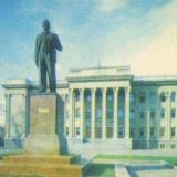 Краснодар. Памятник Ленину возле крайкома КПСС