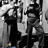 Краснодар. У пивного ларька на перекрёстке улиц Красной и Ленина, 1957 год