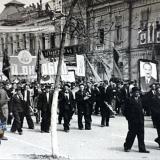 Краснодар. Первомайская демонстрация на ул. Сталина, 1952 год