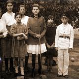 Екатеринодар. Рашпилевская, 11. Игроки в крокет.
