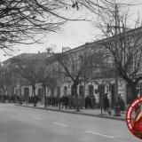 Краснодар. Угол улиц Красной и Орджоникидзе, вид на юг, Ноябрь 1964 года.