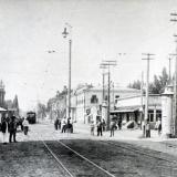 Екатеринодар. Красная улица - перекрёсток с Екатерининской, вид на юг. 1907 год