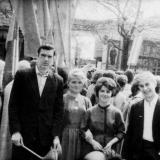 Краснодар. Учащиеся Сахарного техникума на демонстрации 1 мая 1963 года.