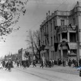 Краснодар. 1 Мая. Перекресток улиц Красной и Пушкина, вид на север, 1920-е