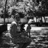Краснодар. 1973 г. Двор многоквартирного дома по ул. Красная №78.