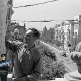 Краснодар. Дом научных работников. ул. Красная, вид на юг, на перекресток с ул. Комсомольской, 1945