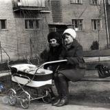 Краснодар. Двор дома по ул. Мира, 44. март 1970 года