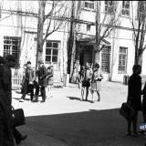 Краснодар. Двор школы №36 (Красная, между Ворошилова и Гоголя), около 1970 года