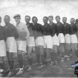 """Краснодар. Футбольная команда Завода """"Октябрь"""", лето 1935 года."""