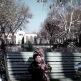 Краснодар. Городской сад. Вид на центральный вход из парка, зима 1972/1973 годов