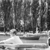 Краснодар. Катание на лодке в горпарке, 1962 год