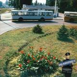 Краснодар. Конечная остановка троллейбусов на улице Захарова