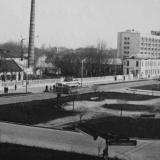 Краснодар. Красная, перекресток с Бабушкина вид на юг (завод Калинина). 1965 год