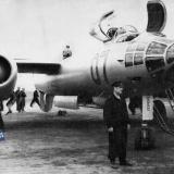 Краснодар. на лётном поле Краснодарского лётного училища. 50-е годы