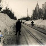 Краснодар. На ул. Коммунаров зимой 1954 года