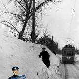 Краснодар. На улице Коммунаров, перекрёсток с Чапаева. Снежная зима 1954 года.