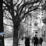 Краснодар. Ноябрьские прадники 1964 года, перекресток Красной и Комсомольской. 12:20