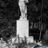 Краснодар. Памятник М. Горькому на территории лицея №24, 1988 год