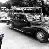"Краснодар.  Парад ретро-авто на празднике газеты ""Комсомолец Кубани"", 1986 год."
