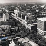 Краснодар. Перекресток Красной и Гоголя с высоты птичьего полета, 1986 год