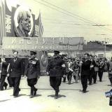Краснодар. Унститут пищевой промышленности на Первомайской демонстрации.
