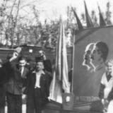 Краснодар. Первомайская демонстрация, 1955 год