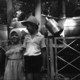 """Краснодар. Первомайская роща. Аттракцион """"Паровозик"""", 1989 год"""